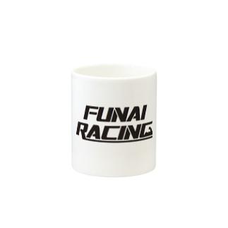 FUNAI RACINGのFUNAI RACING Mugsの取っ手の反対面