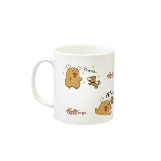 仲良し肉ボーン(カラー) Mugs