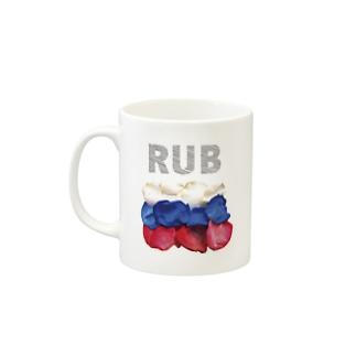 Flowerflag of Russia Mugs