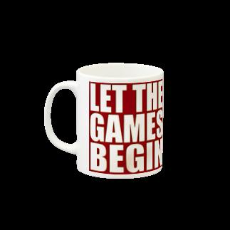 キューカンバー・ガールのLet the games begin. Mugsの取っ手の左面