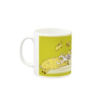 イノシシタクシー マグカップ