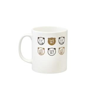 パンダとくま Mugs