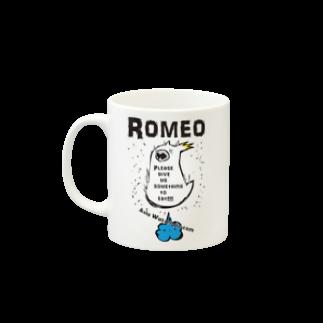 SHOP ROMEO のHungry tai Mugsの取っ手の左面