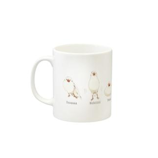 文鳥七変化 Mugs