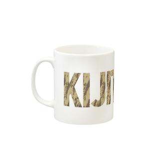 SHOP W SUZURI店のKIJITORA マグカップ Mugsの取っ手の左面