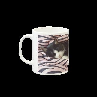 BLACK-UROBOROSのうちの猫 Mugsの取っ手の左面