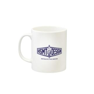 HSMT design@NO SK8iNGのHSMT design PLUG BLUE Mugsの取っ手の左面