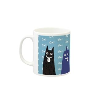 五色の鬼のマグカップ Mugs