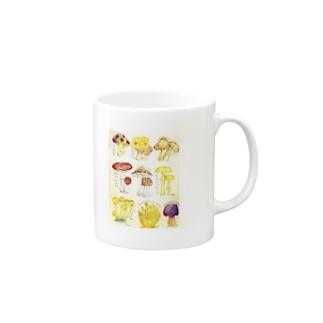 キノコ図鑑 マグカップ