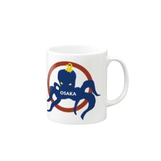 Dream ShakeのLazy Octpus Mugsの取っ手の右面