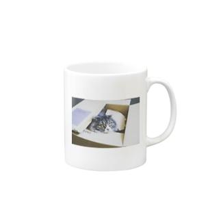 箱の中からこんにちは Mugs