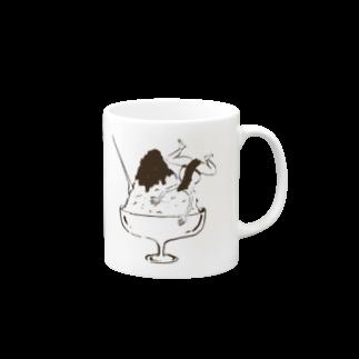 ヨネコマートのNATSU-mag Mugsの取っ手の右面