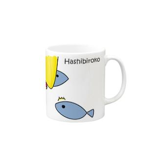 ハシビロコウさんのお魚ゲット♪ Mugs