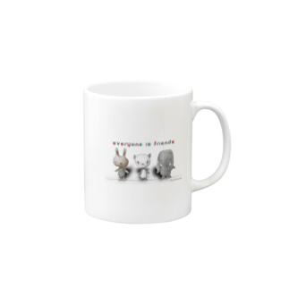 ウサパンゾウ Mugs