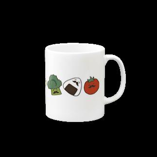リカ蔵~rikagura~のヒゲ弁当(横) マグカップ