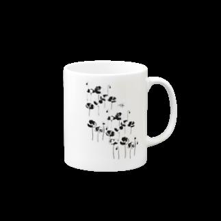 佳矢乃の花とみつばち Mugsの取っ手の右面