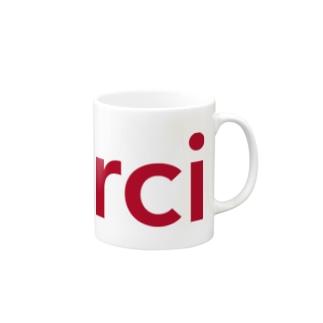 "merci red logo ""limited"" Mugs"