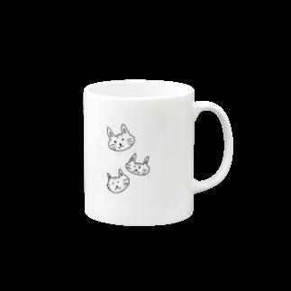 kirashop♡♔.゚なの花♔.゚のうちの猫3匹かわいいやろ?♡ Mugsの取っ手の右面