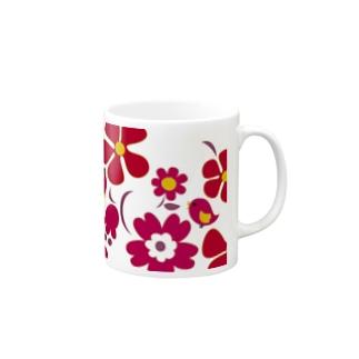 大きな花柄マグカップ Mugs