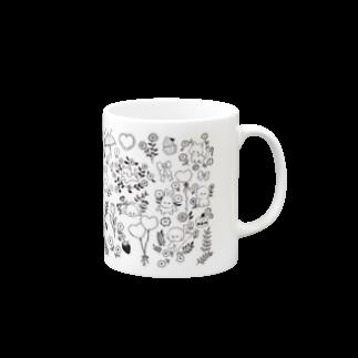 なご村🍙のゆるい動物と植物 Mugsの取っ手の右面