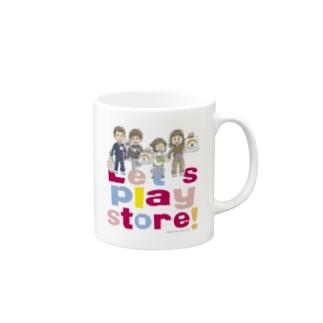 Let's play store!マグカップ Mugs