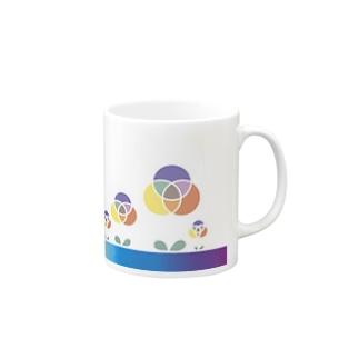 混色フラワー(ペイント) Mugs