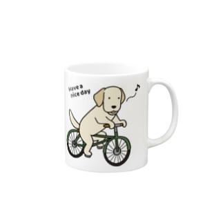 bicycleラブ イエロー Mugs