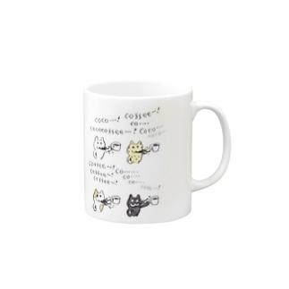 コーヒー吐くねこ Mugs