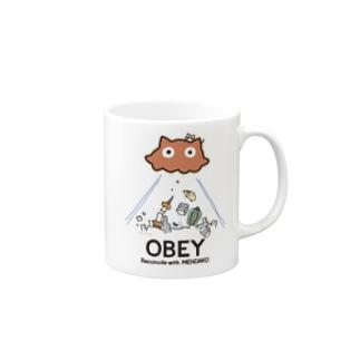 めんだこちゃん OBEY (淡色用)  Mugs
