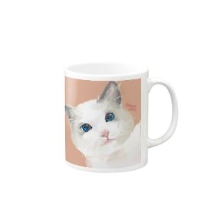 猫ちゃんのマグカップ Mugs
