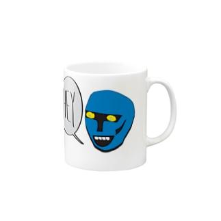 Hell Blue Boy Mugs
