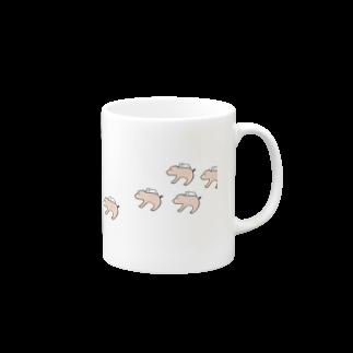 Kuma_tsuのくつろぐくま Mugsの取っ手の右面
