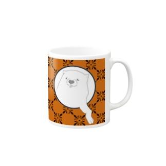 あの犬/クロム(柿色) Mugs