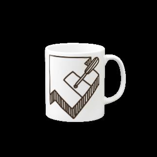 おうちハック同好会のおうちハックマグカップ Mugsの取っ手の右面