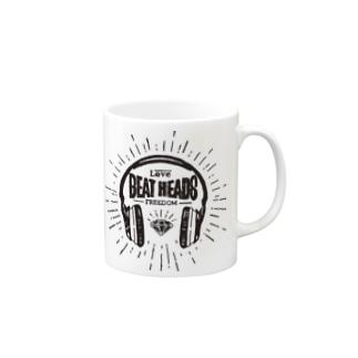 BEATHEADS black print Mugs