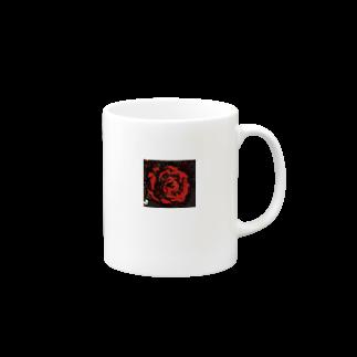 hitoshiの部屋の赤い薔薇 Mugsの取っ手の右面