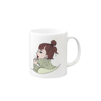whiteちゃん Mugs