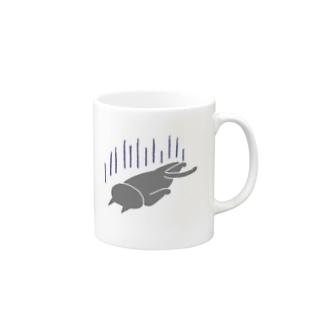 へこむネコ Mugs