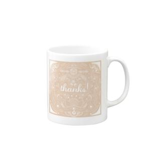 thanks! pink Mugs