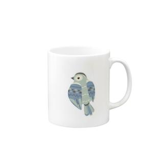 blue bird マグカップ