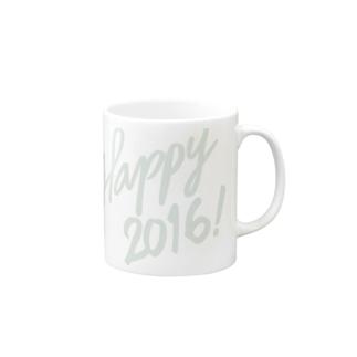 HAPPY 2016正月 グッズ FRESH GREEN Mugs