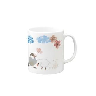 シナモン文鳥と白文鳥のカップル Mugs