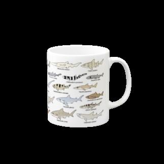 幻想水系branch byいずもり・ようのSharks30(color)1.1 Mugsの取っ手の右面