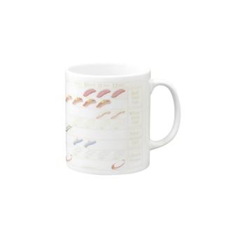 Seasonal Sushi(寿司) Mugs