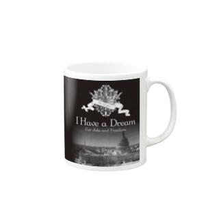 人気のモノトーンファッション 「I Have a Dream」 Mugs