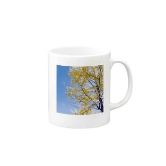 秋の黄色 Mugs