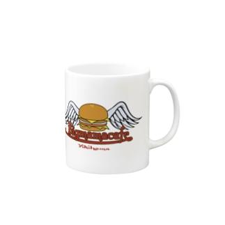 Bigmamacafe ハンバーガーロゴ Mugs