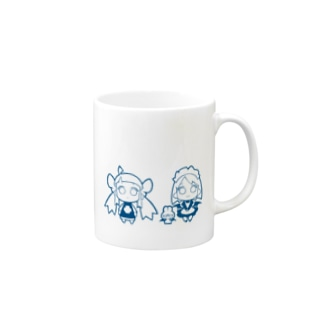 2LDK DIMENSiON マグカップ ブルー Mugs