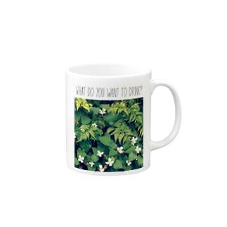 なに飲みたい?(植物Ⅰ) Mugs
