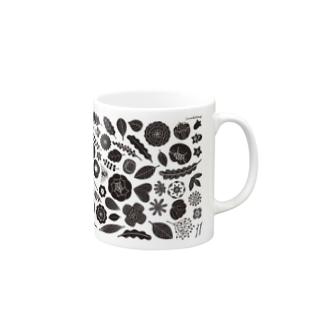 植物図案 Mugs